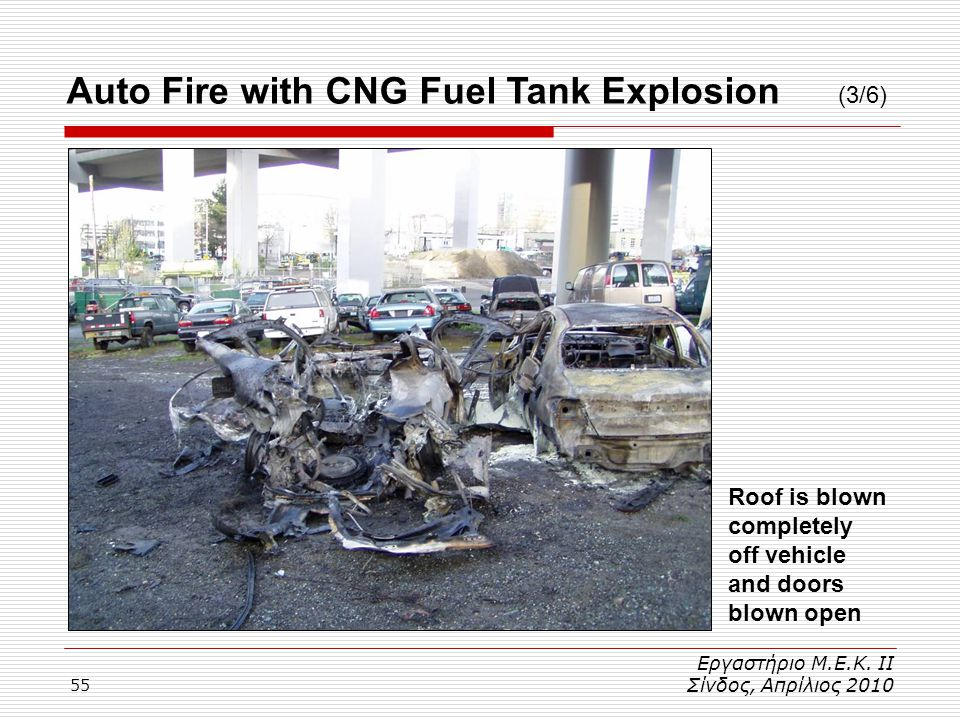 Auto Fire with CNG Fuel Tank Explosion (3/6)
