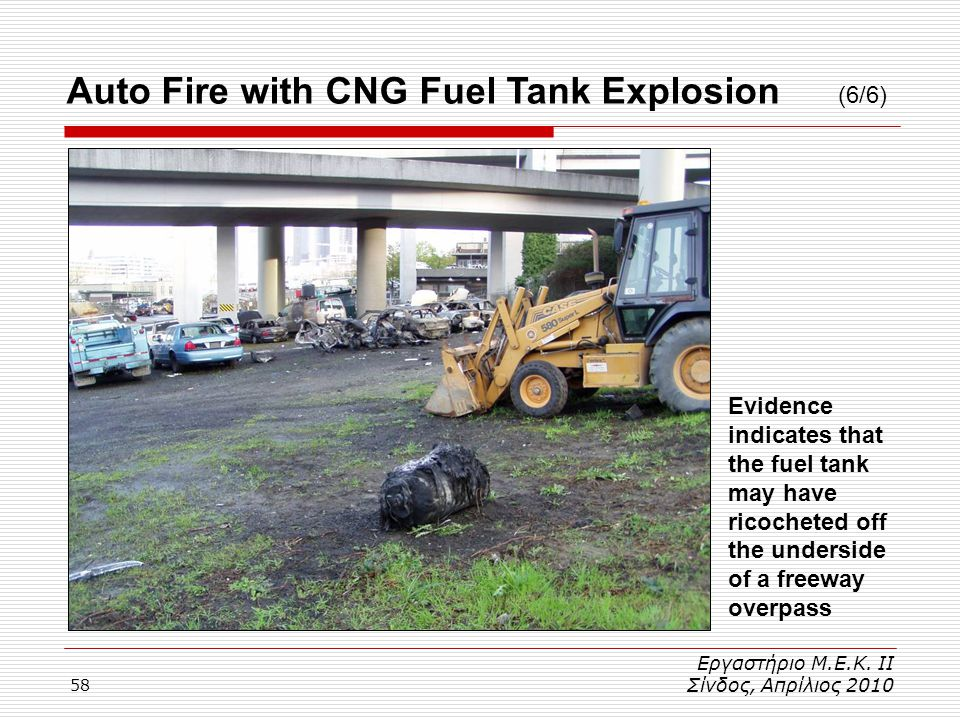 Auto Fire with CNG Fuel Tank Explosion (6/6)