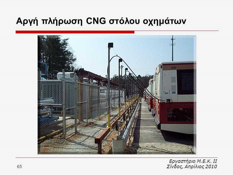 Αργή πλήρωση CNG στόλου οχημάτων