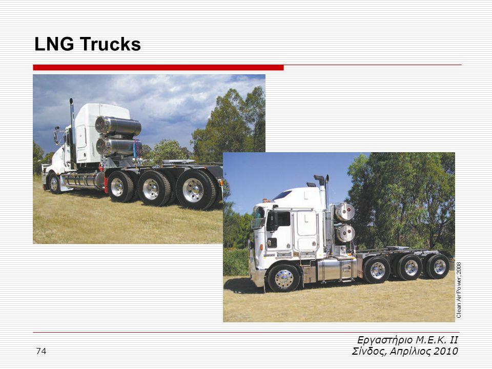 LNG Trucks Εργαστήριο Μ.Ε.Κ. ΙΙ Σίνδος, Απρίλιος 2010