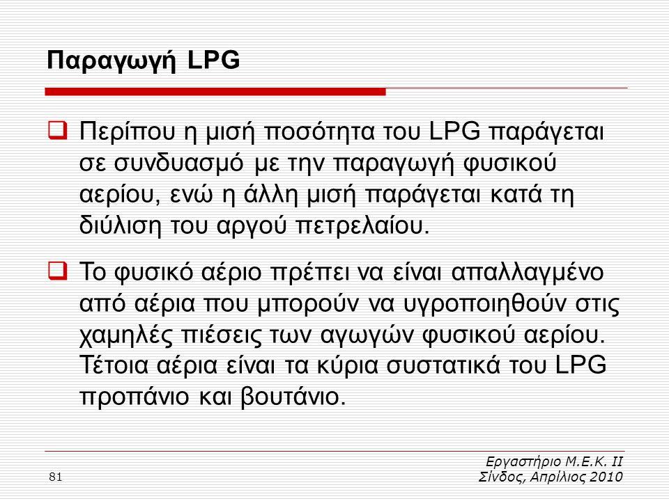 Παραγωγή LPG