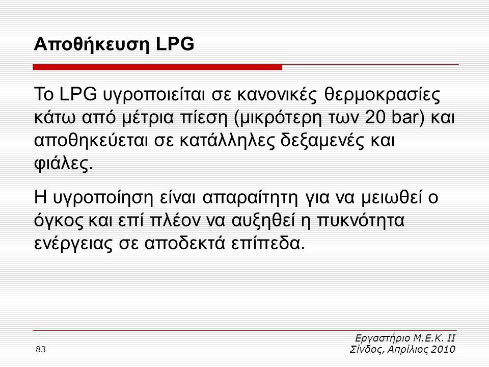 Αποθήκευση LPG