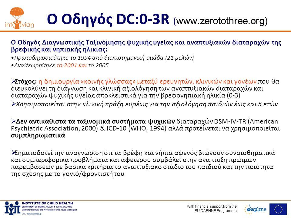 Ο Οδηγός DC:0-3R (www.zerotothree.org)