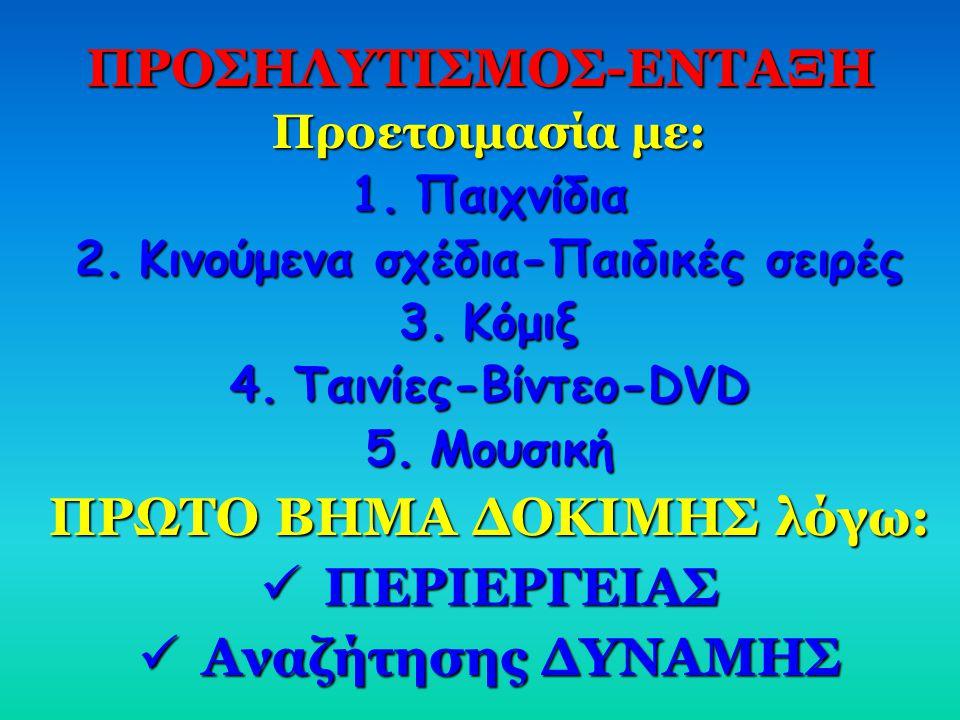 ΠΡΟΣΗΛΥΤΙΣΜΟΣ-ΕΝΤΑΞΗ