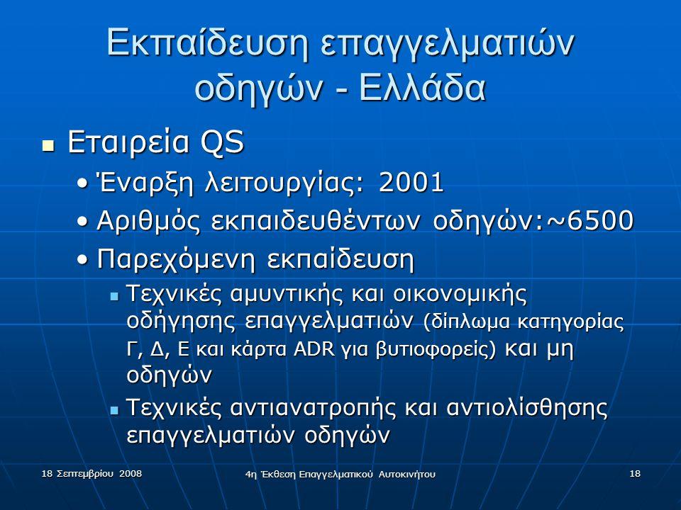 Εκπαίδευση επαγγελματιών οδηγών - Ελλάδα