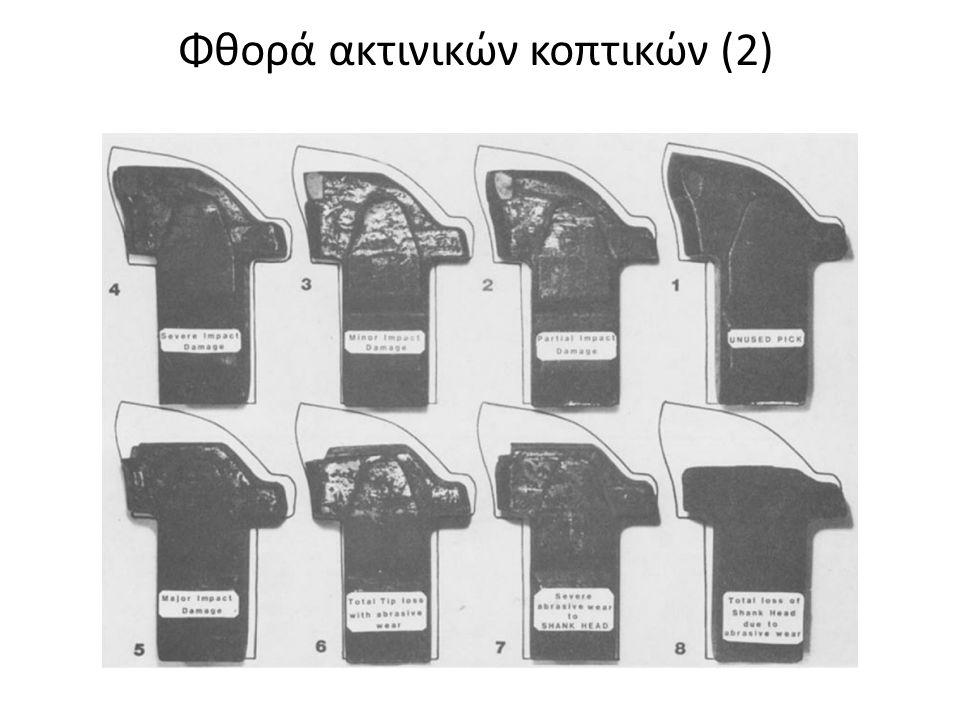 Φθορά ακτινικών κοπτικών (2)