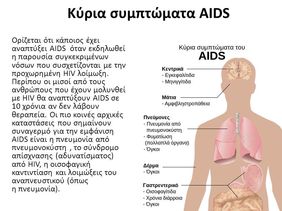 Κύρια συμπτώματα AIDS