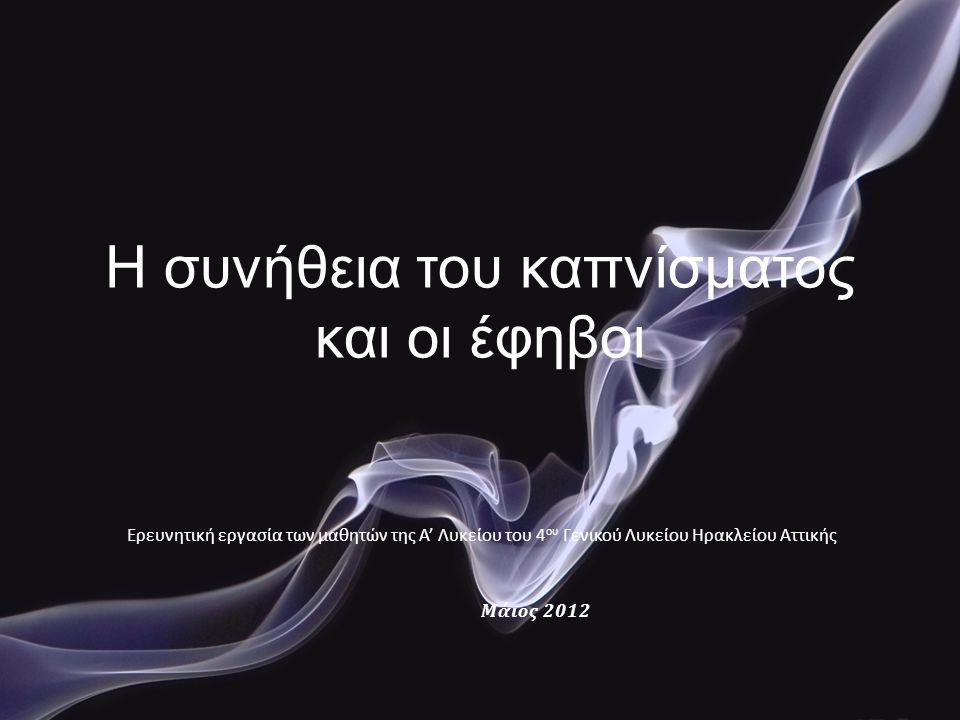Η συνήθεια του καπνίσματος και οι έφηβοι