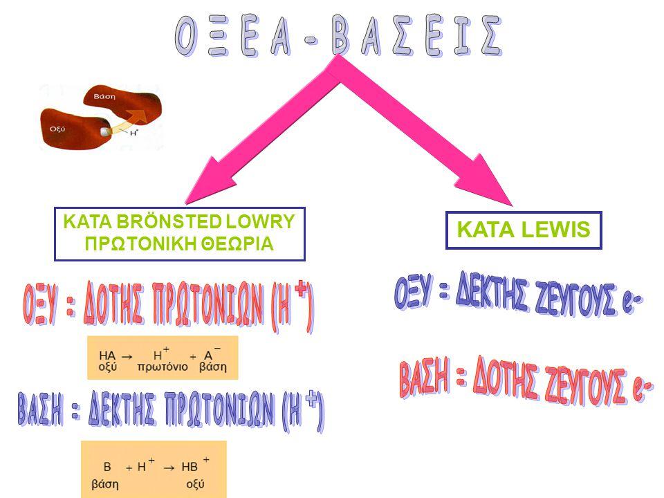 ΟΞΥ = ΔΟΤΗΣ ΠΡΩΤΟΝΙΩΝ (Η ) ΒΑΣΗ = ΔΕΚΤΗΣ ΠΡΩΤΟΝΙΩΝ (Η )