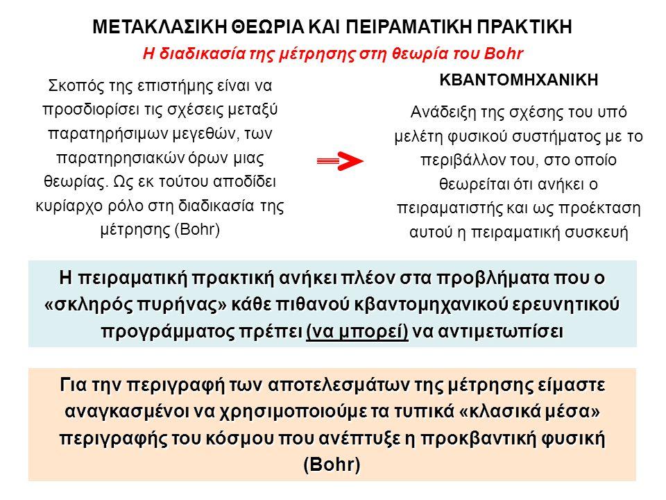 Η διαδικασία της μέτρησης στη θεωρία του Bohr