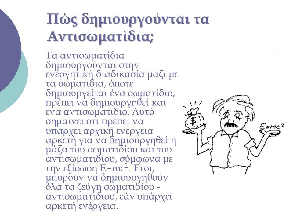 Πώς δημιουργούνται τα Αντισωματίδια;