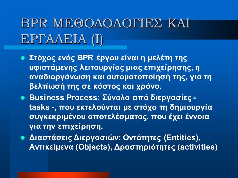 BPR ΜΕΘΟΔΟΛΟΓΙΕΣ ΚΑΙ ΕΡΓΑΛΕΙΑ (I)