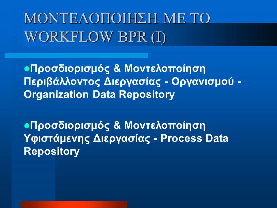 ΜΟΝΤΕΛΟΠΟΙΗΣΗ ΜΕ ΤΟ WORKFLOW BPR (I)