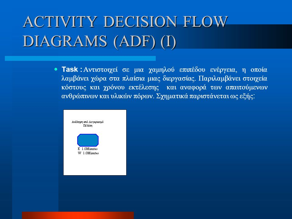 ACTIVITY DECISION FLOW DIAGRAMS (ADF) (I)