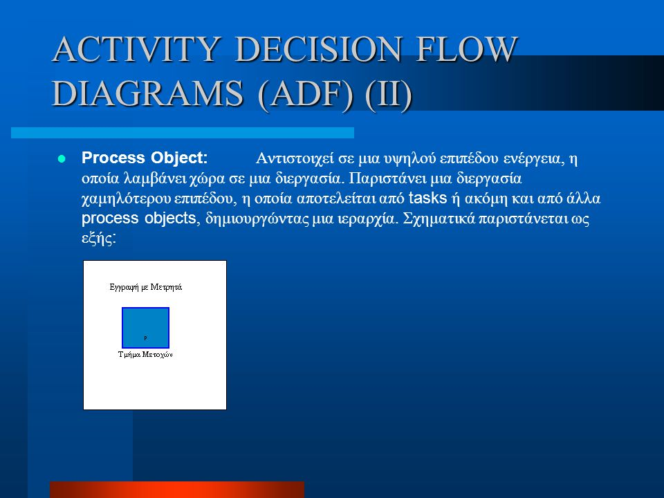 ACTIVITY DECISION FLOW DIAGRAMS (ADF) (II)