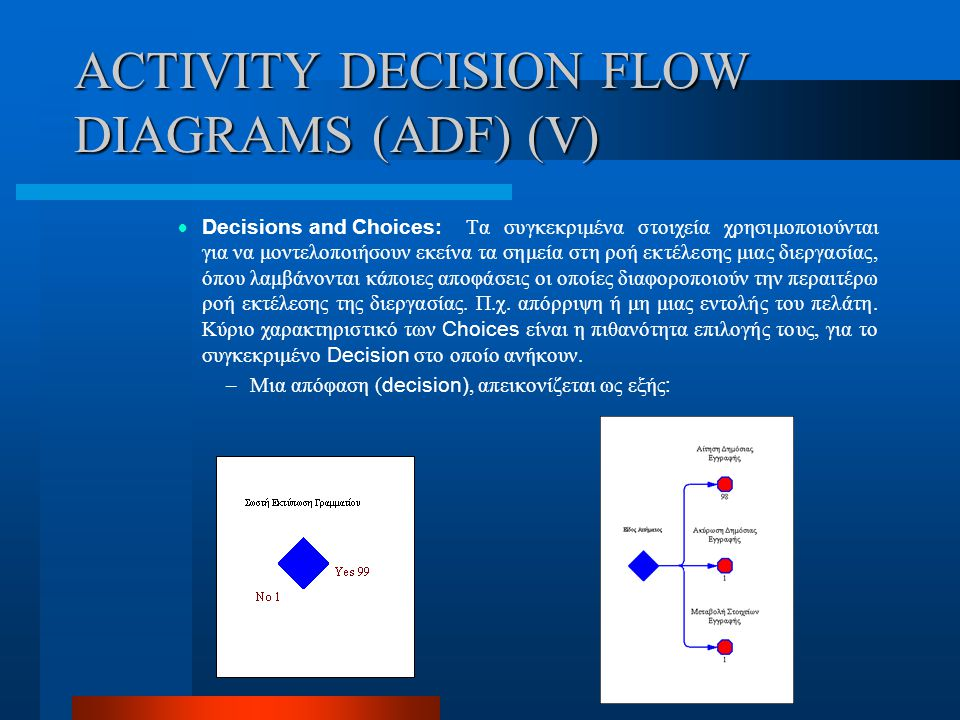 ACTIVITY DECISION FLOW DIAGRAMS (ADF) (V)