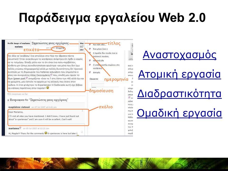 Παράδειγμα εργαλείου Web 2.0
