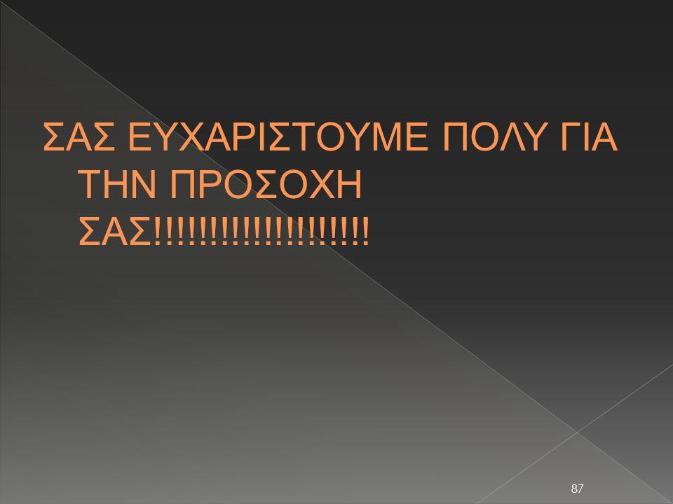 ΣΑΣ ΕΥΧΑΡΙΣΤΟΥΜΕ ΠΟΛΥ ΓΙΑ ΤΗΝ ΠΡΟΣΟΧΗ ΣΑΣ!!!!!!!!!!!!!!!!!!!!