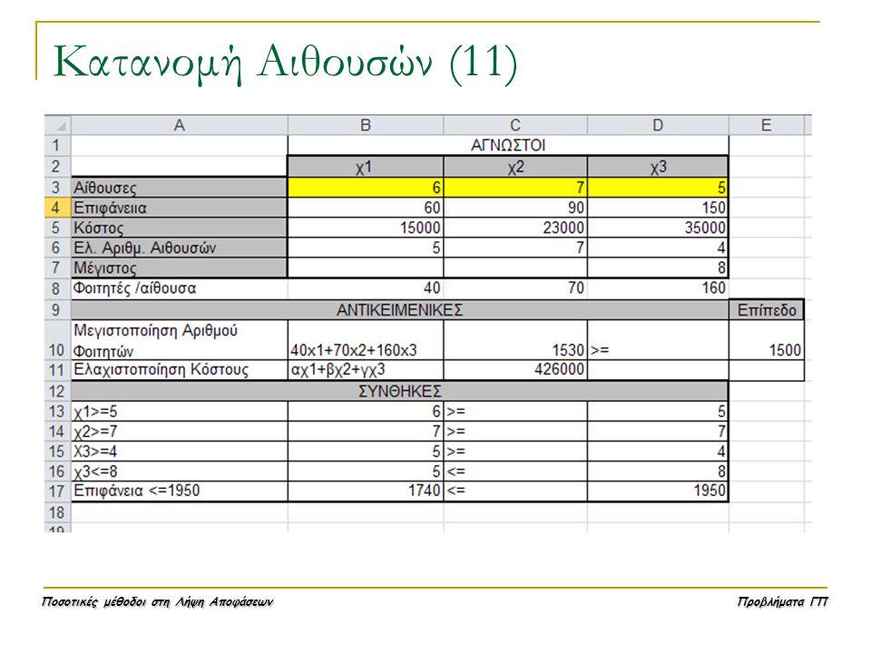 Κατανομή Αιθουσών (11)
