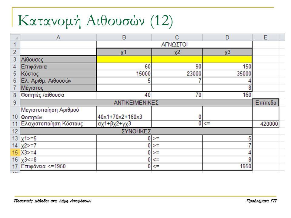 Κατανομή Αιθουσών (12)