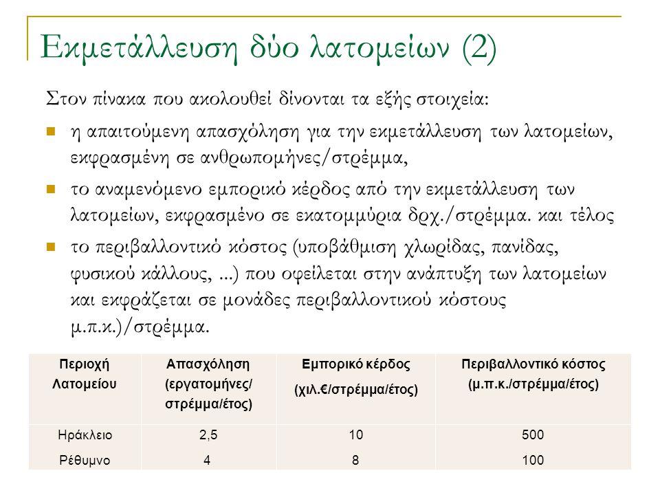 Εκμετάλλευση δύο λατομείων (2)