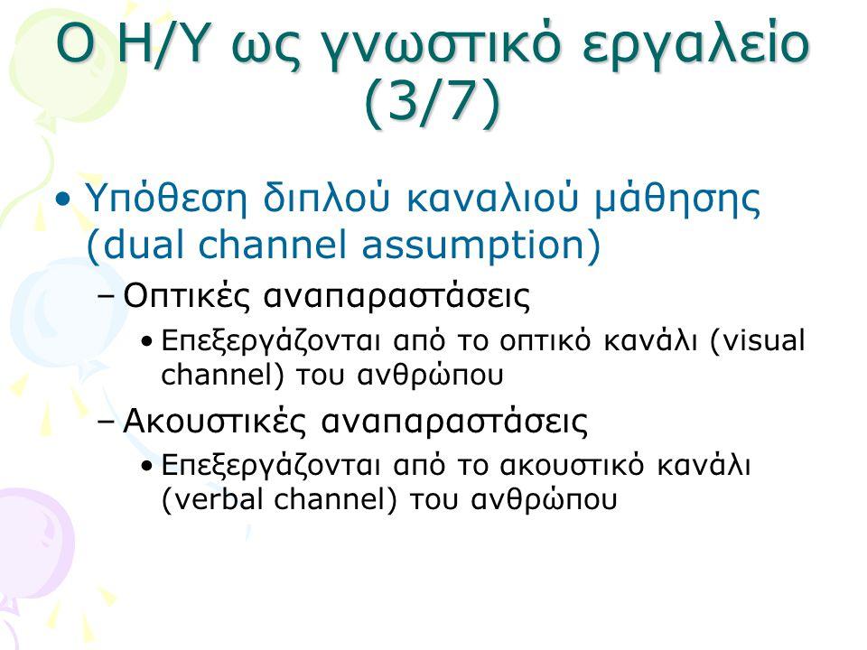 Ο Η/Υ ως γνωστικό εργαλείο (3/7)