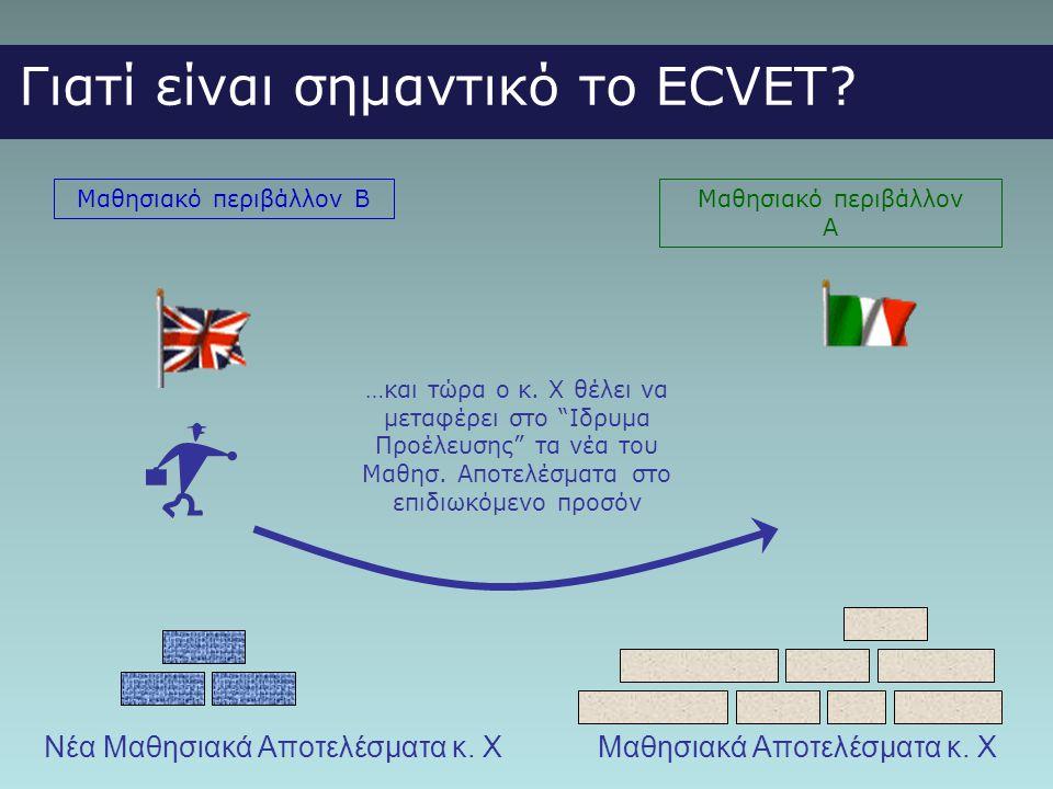 Γιατί είναι σημαντικό το ECVET