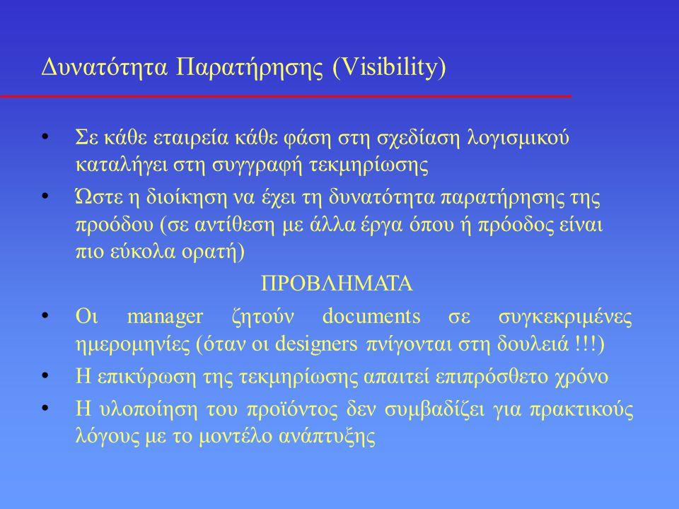 Δυνατότητα Παρατήρησης (Visibility)