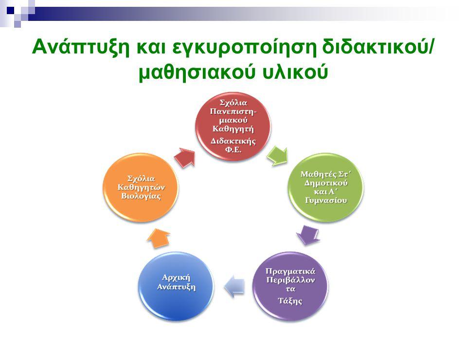 Ανάπτυξη και εγκυροποίηση διδακτικού/ μαθησιακού υλικού