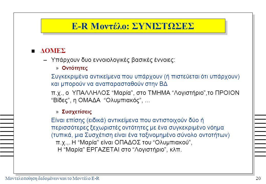 4/3/2017 E-R Μοντέλο: ΔΟΜΕΣ (2)