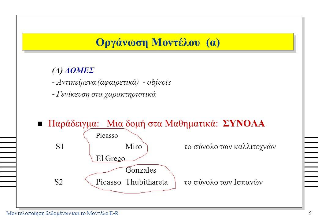 Οργάνωση Μοντέλου (β) (B) ΠΡΑΞΕΙΣ - χειρισμός των δομών