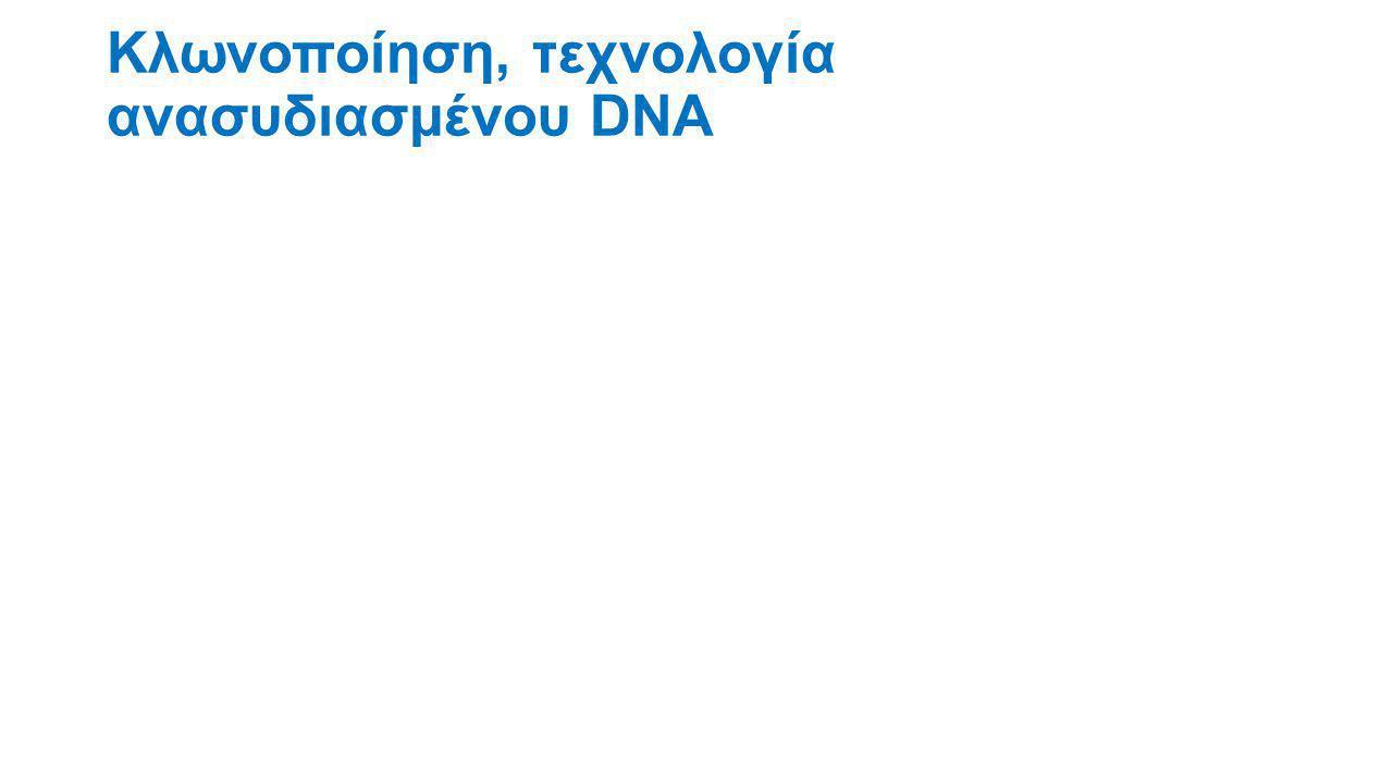 Κλωνοποίηση, τεχνολογία ανασυδιασμένου DNA