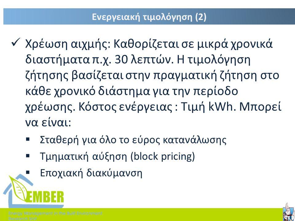 Ενεργειακή τιμολόγηση (2)