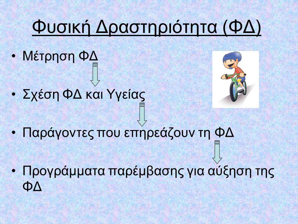 Φυσική Δραστηριότητα (ΦΔ)