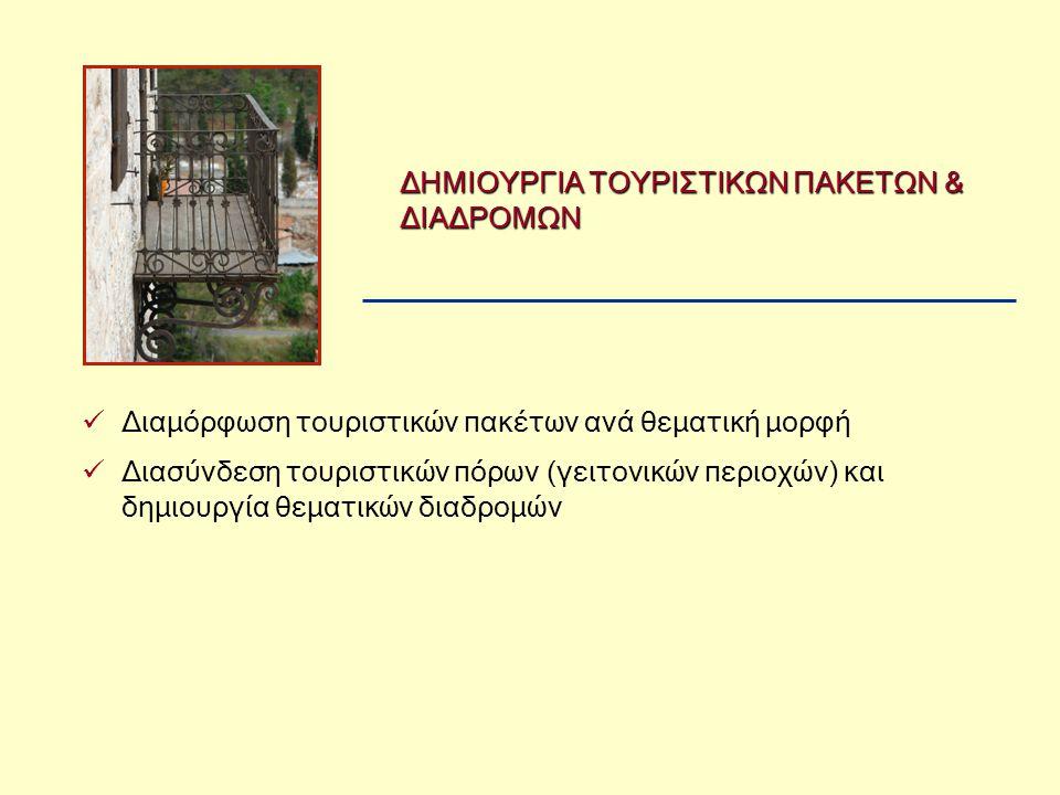 ΔΗΜΙΟΥΡΓΙΑ ΤΟΥΡΙΣΤΙΚΩΝ ΠΑΚΕΤΩΝ & ΔΙΑΔΡΟΜΩΝ