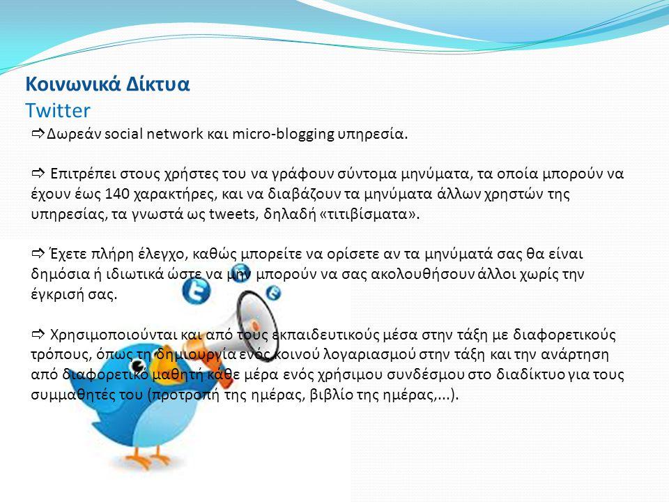 Κοινωνικά Δίκτυα Twitter