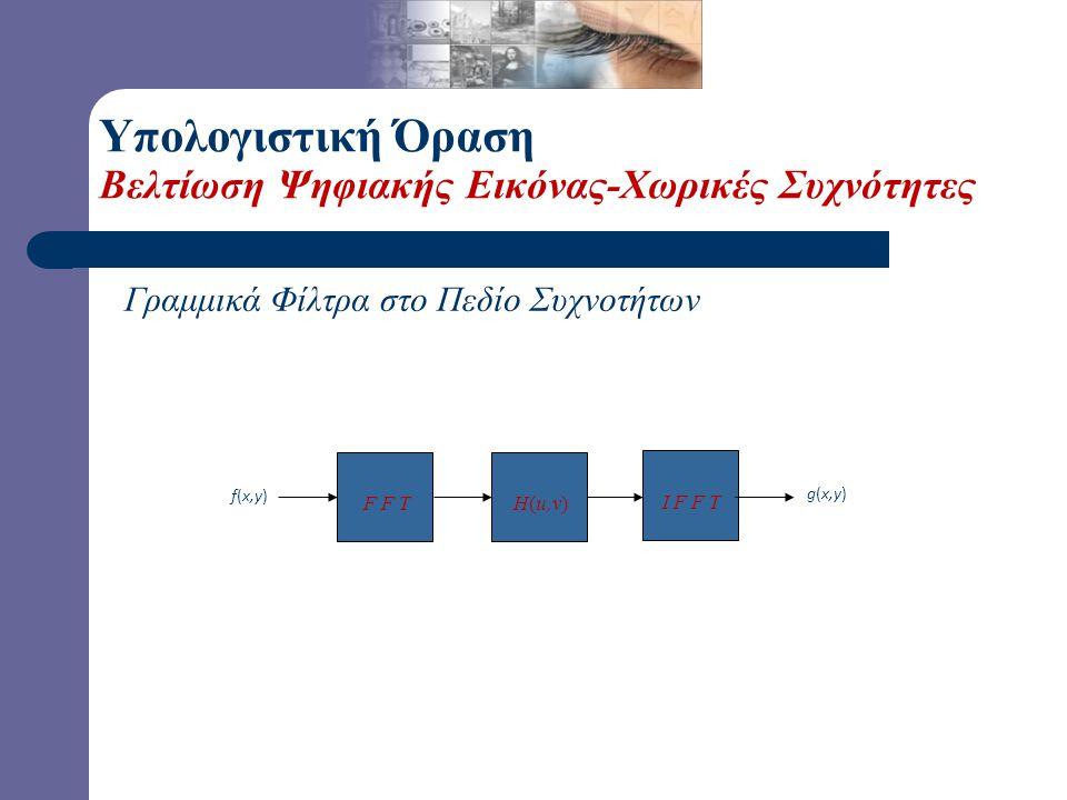 Υπολογιστική Όραση Βελτίωση Ψηφιακής Εικόνας-Χωρικές Συχνότητες