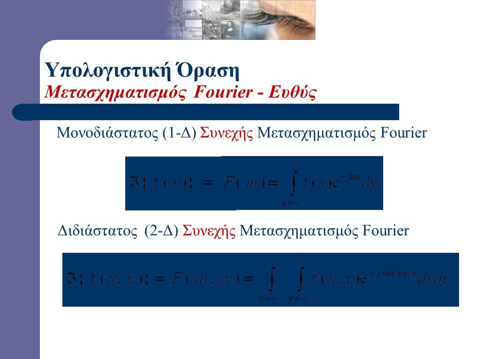 Υπολογιστική Όραση Μετασχηματισμός Fourier - Ευθύς