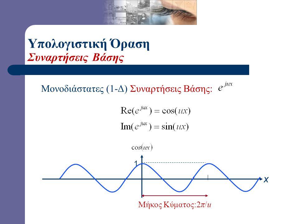 Υπολογιστική Όραση Συναρτήσεις Βάσης