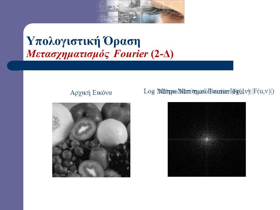 Υπολογιστική Όραση Μετασχηματισμός Fourier (2-Δ)