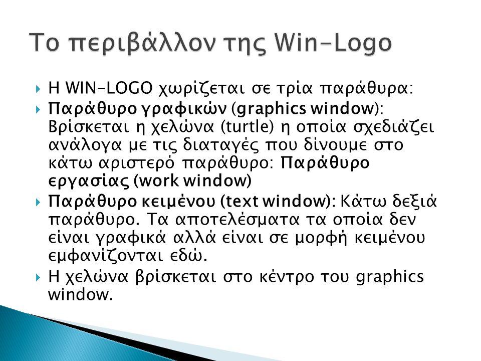 Το περιβάλλον της Win-Logo