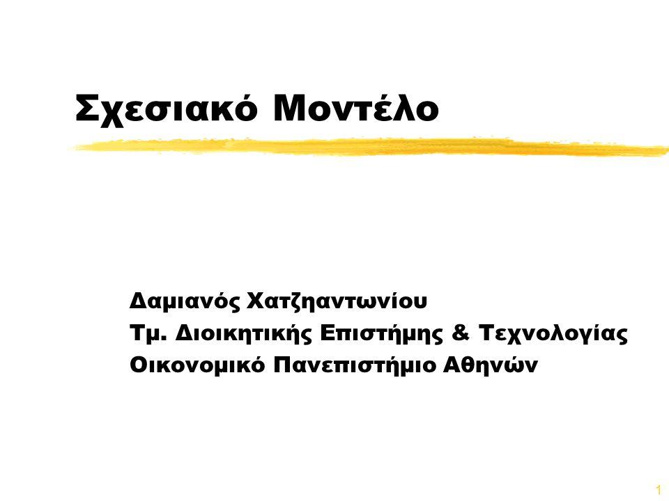 Σχεσιακό Μοντέλο Δαμιανός Χατζηαντωνίου