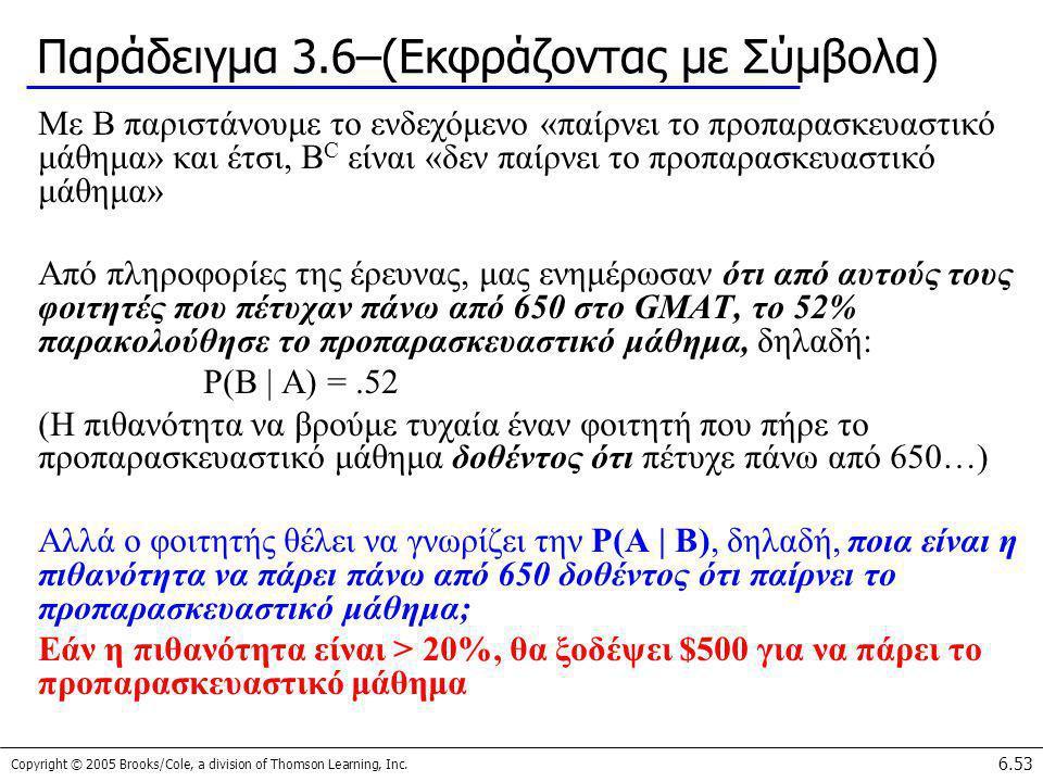 Παράδειγμα 3.6–(Εκφράζοντας με Σύμβολα)
