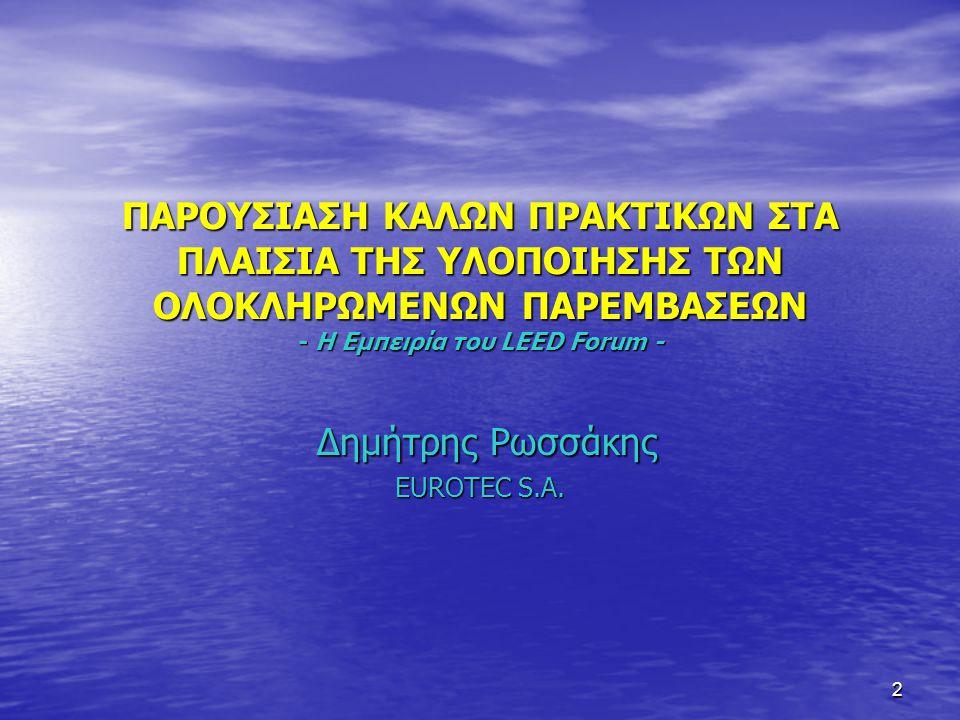 Δημήτρης Ρωσσάκης EUROTEC S.A.