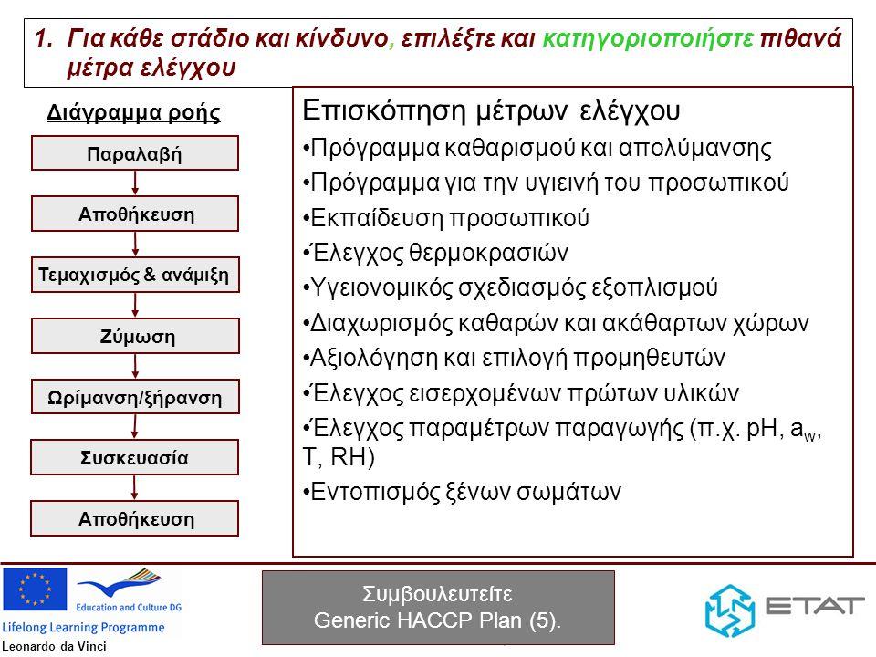 Συμβουλευτείτε Generic HACCP Plan (5).