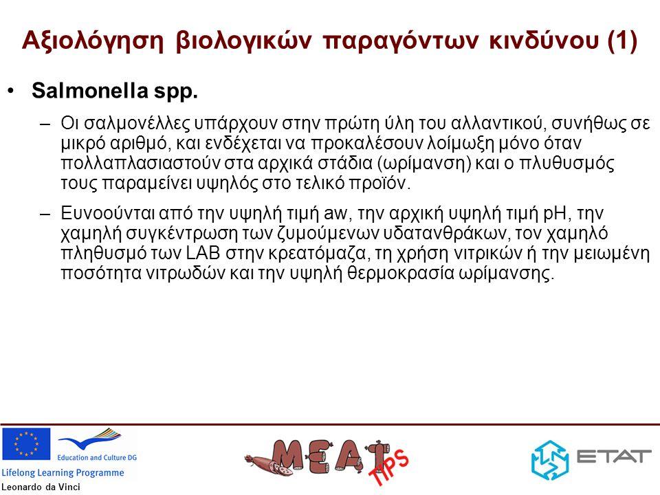 Αξιολόγηση βιολογικών παραγόντων κινδύνου (1)
