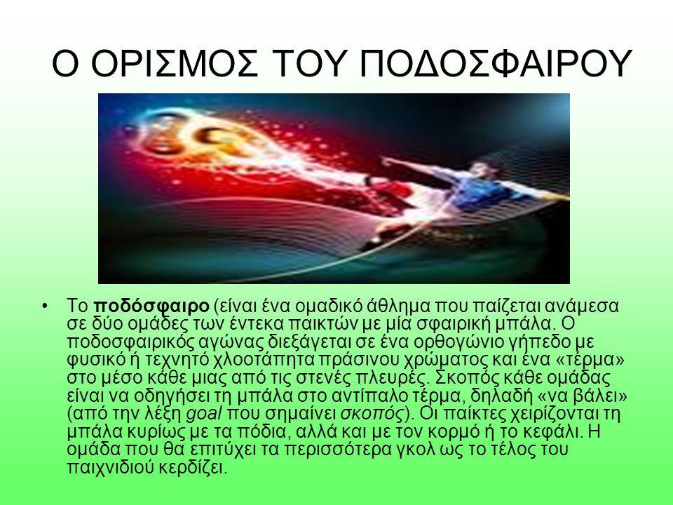 Ο ΟΡΙΣΜΟΣ ΤΟΥ ΠΟΔΟΣΦΑΙΡΟΥ