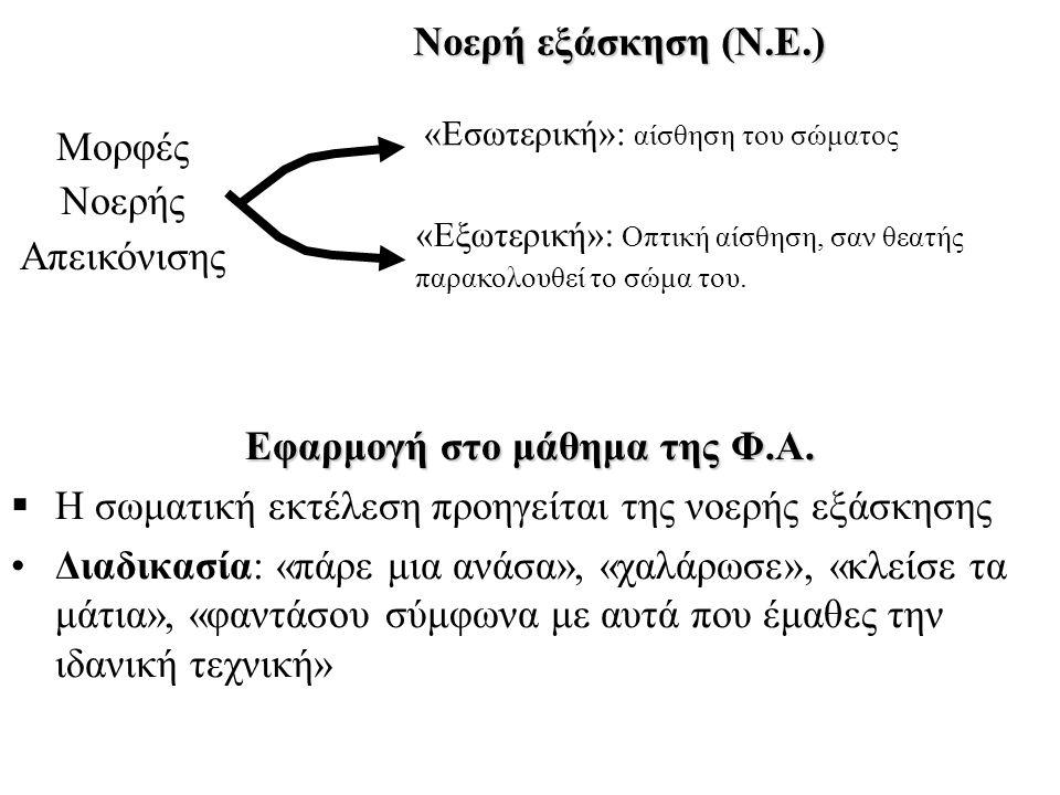 Εφαρμογή στο μάθημα της Φ.Α.