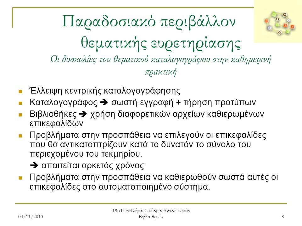 19ο Πανελλήνιο Συνέδριο Ακαδημαϊκών Βιβλιοθηκών