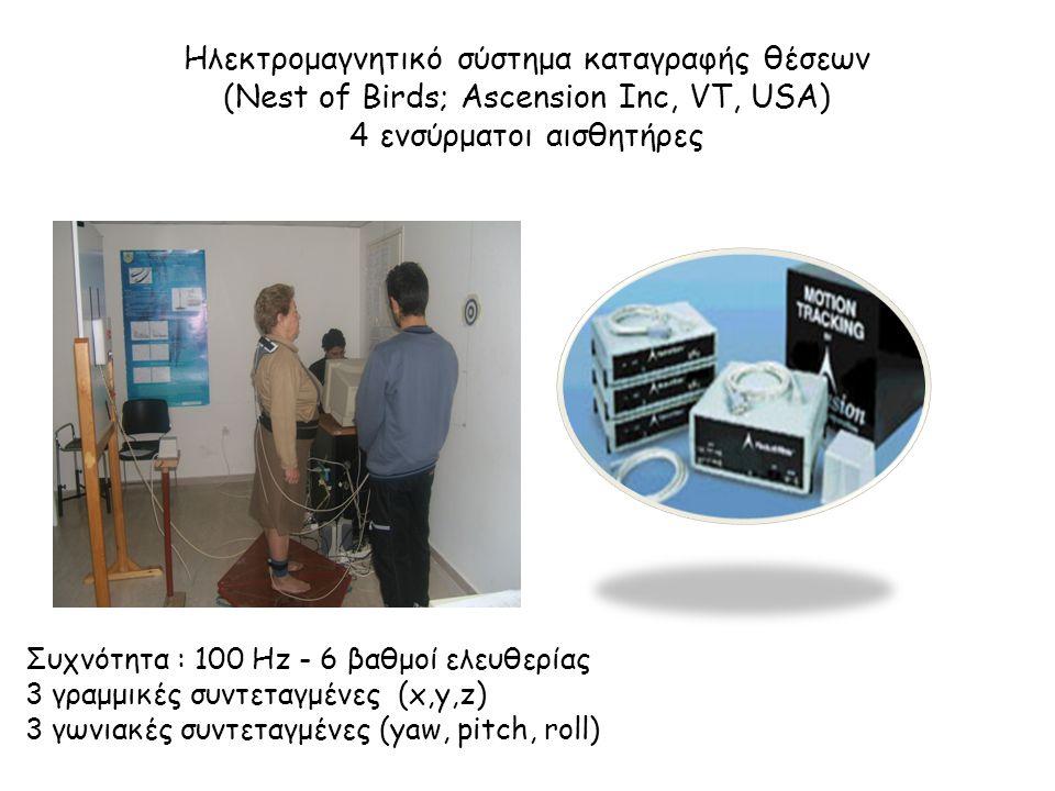 Ηλεκτρομαγνητικό σύστημα καταγραφής θέσεων (Nest of Birds; Ascension Inc, VT, USA) 4 ενσύρματοι αισθητήρες